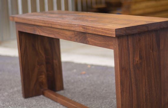 Superb Walnut Bench Seat Wood 4 Foot Bench For Kitchen Table Or Hallway Caraccident5 Cool Chair Designs And Ideas Caraccident5Info