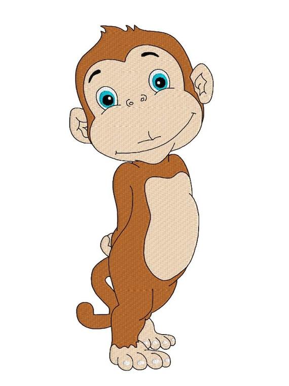 Scimmia Macchina Ricamo Design Design Per Bambini Disegno Di Etsy