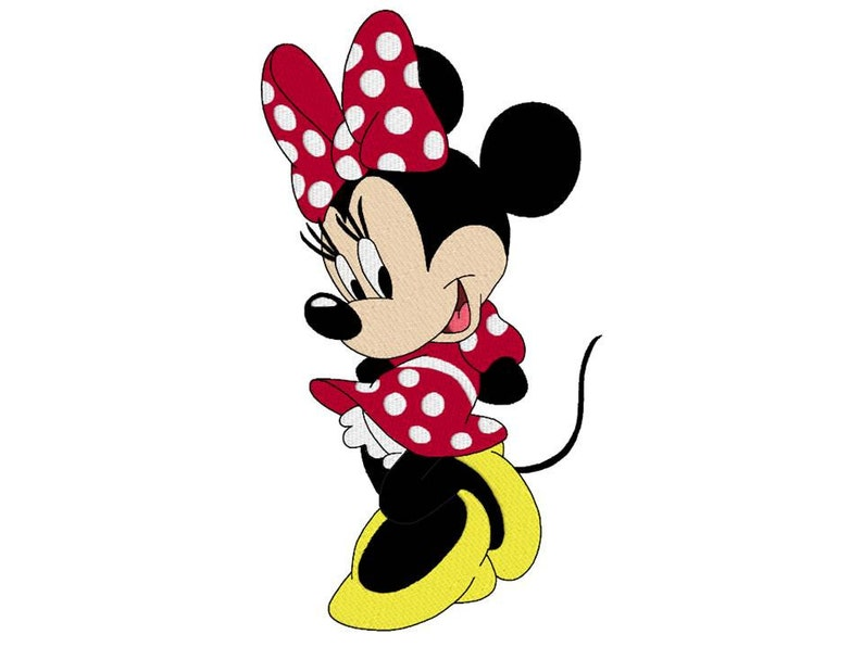 minnie mouse disney machine embroidery design design for image 0