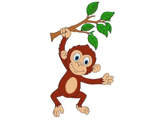 Scimmia Macchina Ricamo Design Per Bambini Disegno Di Ricamo Etsy