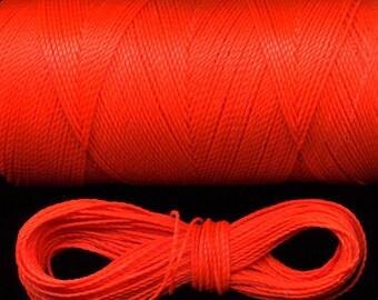 10 m fil macramé 327 Linhasita, corail orange fluo