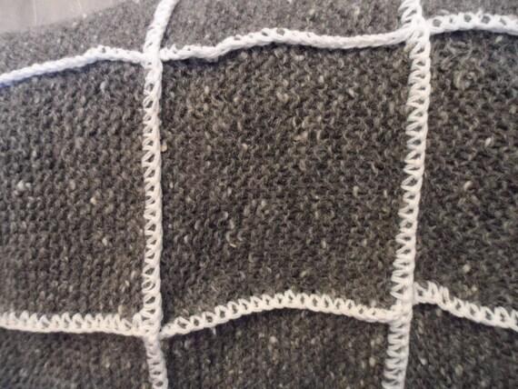 Aspect rustique laine jet pour chaise de bureau ou fauteuil en