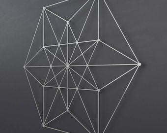 Vector Equilibrium Metal Wall Art Sculpture, Sacred Geometry Wall Decor, Large Metal Wall Art, Modern Metal Wall Sculpture, Geometric Art