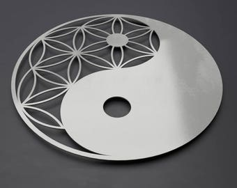 Yin Yang Metal Wall Art, Zen Wall Decor, Modern Metal Wall Art, Large Metal Wall Art, Feng Shui Wall Art, Sacred Geometry home Decor