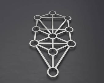 Kabbalah Tree of Life, Large Metal Wall Art Sculpture, Sephiroth or Sefirot Tree, Sacred Geometry Wall Art, Modern Home Decor, Loft Wall Art