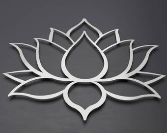 Buddha's Lotus Flower 3D Metal Wall Art - Exclusively By Arte & Metal