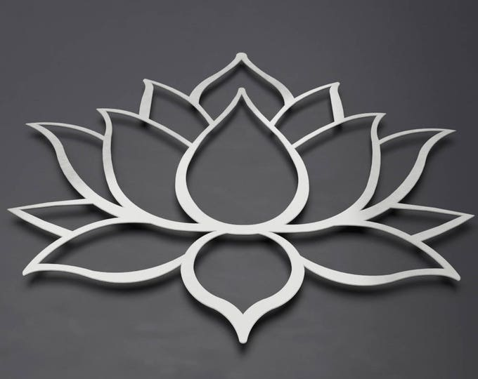 Featured listing image: Buddha's Lotus Flower 3D Metal Wall Art - Exclusively By Arte & Metal