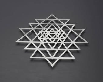 Sri Yantra Metal Wall Art, Sacred Geometry Metal Wall Art, Spiritual Wall Decor, Yoga Wall Art, Yoga Wall Decor, Modern Metal Wall Sculpture