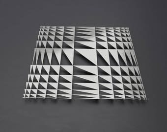 "Abstract Metal Wall Art, Geometric Wall Art, Modern Metal Wall Art, Large Wall Art,  Silver Wall Art by Arte & Metal 36"" x 36"""