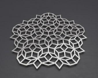 "Penrose Tiling Large Metal Wall Art Sculpture, Science Wall Art, Geometric Metal Wall Decor, Math Art by Arte & Metal 36"" x 36"""