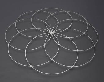 Seed of Life Metal Wall Art Sculpture, Sacred Geometry Wall Art, Modern Metal Wall Art, Large Metal Wall Decor, Loft Wall Art, Silver Art