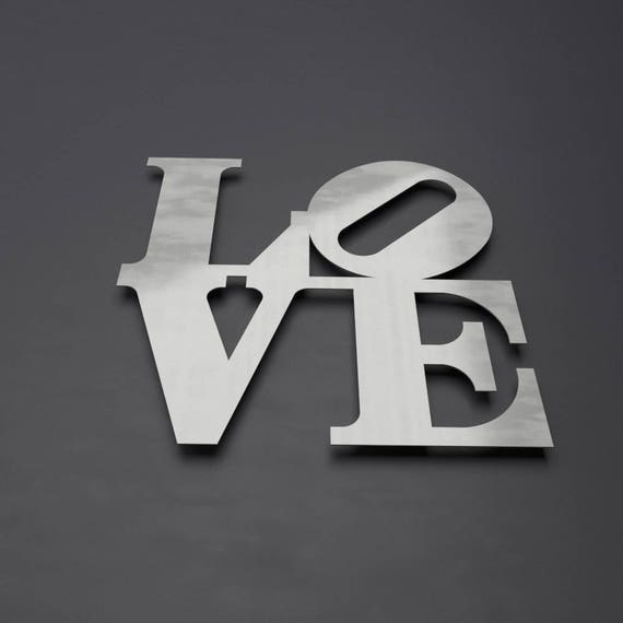 Love Park Sign Metal Wall Art Philadelphia Love Park Word Etsy