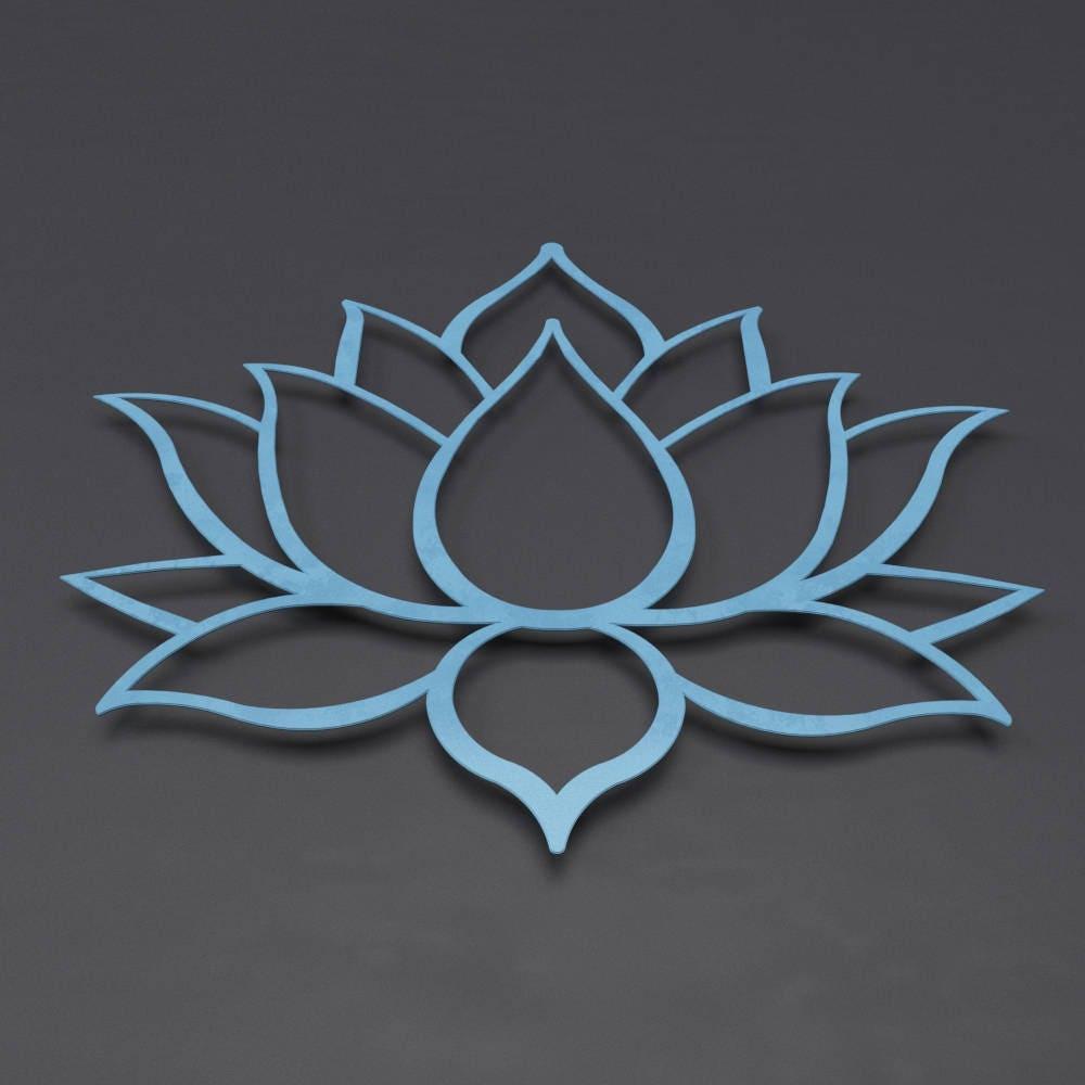 Blue lotus flower metal wall art lotus metal art home decor blue lotus flower metal wall art lotus metal art home decor meditation room decor spiritual wall decor blue wall art yoga studio art mightylinksfo