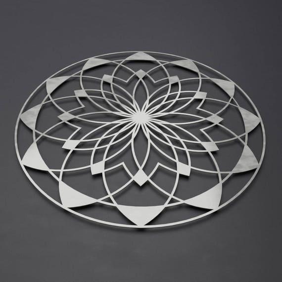 Lotus Mandala Metal Wall Art Sculpture Large Metal Wall | Etsy