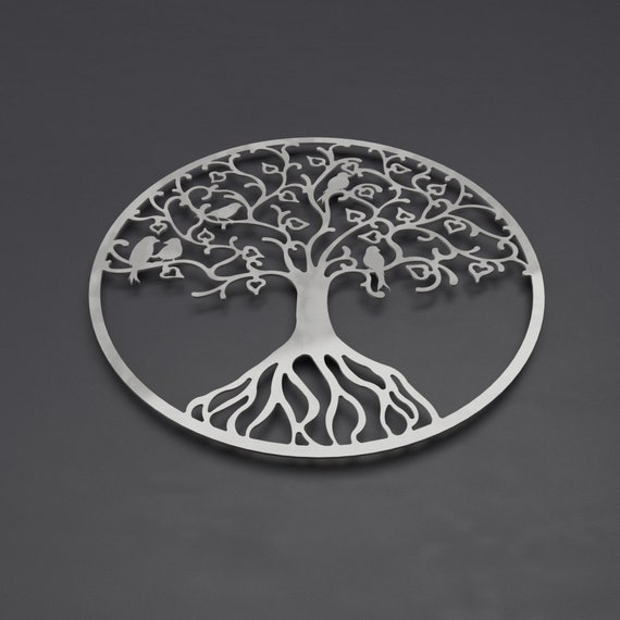 gift, Tree of life with couple wall art Solid Steel Metal hand finished