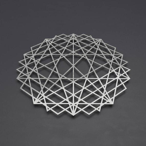 Abstract Mandala Metal Wall Art Sculpture Sacred Geometry   Etsy