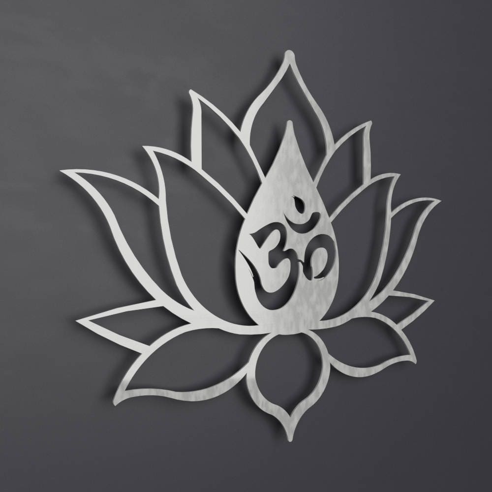 Om lotus flower metal wall art om wall decor om wall art om lotus flower metal wall art om wall decor om wall art spiritual wall art yoga wall decor hindu wall art modern om symbol for house mightylinksfo