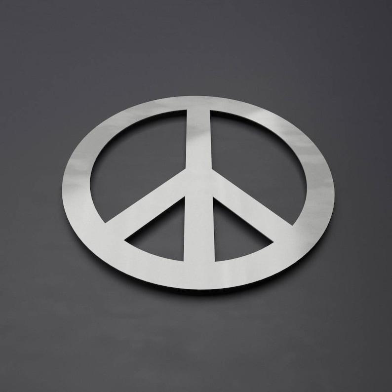Paix Symbole Sticker Métal Cercle Muraux Décoration Murale Etsy
