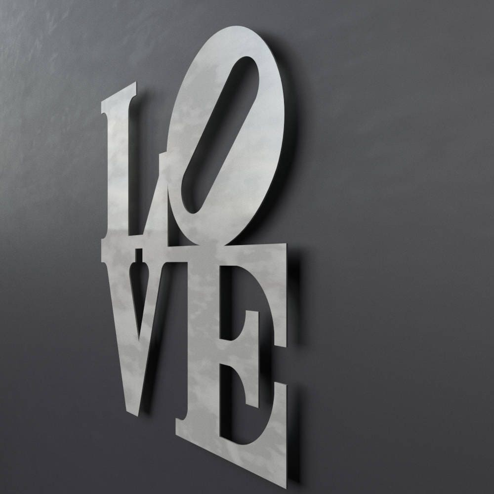 Love Park Sign Metal Wall Art Philadelphia Love Park Word Art