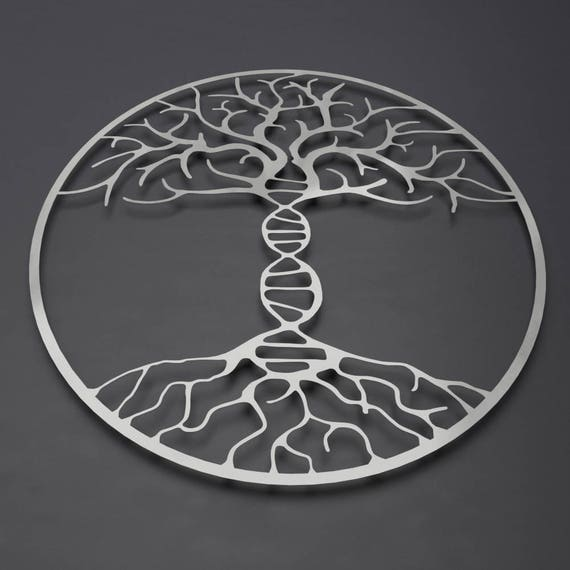 DNA Tree of Life Metal Wall Art Metal Tree Wall Art Double | Etsy