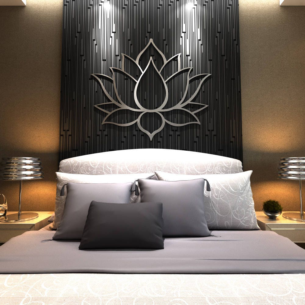 Prime Xl Lotus Flower Metal Wall Art Contemporary Sculpture Download Free Architecture Designs Itiscsunscenecom