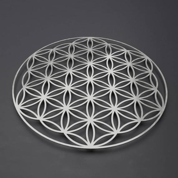 Flower of Life Metal Wall Art Sculpture Sacred Geometry Wall | Etsy