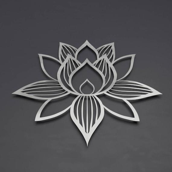 Lotus Flower Metal Wall Art Lotus Metal Art Lotus Flower | Etsy