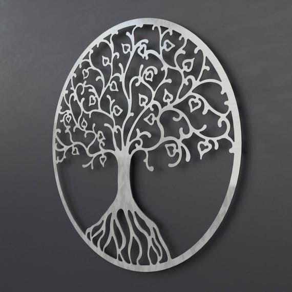 Tree of Life Metal Wall Art Metal Tree Wall Art Circle Wall | Etsy