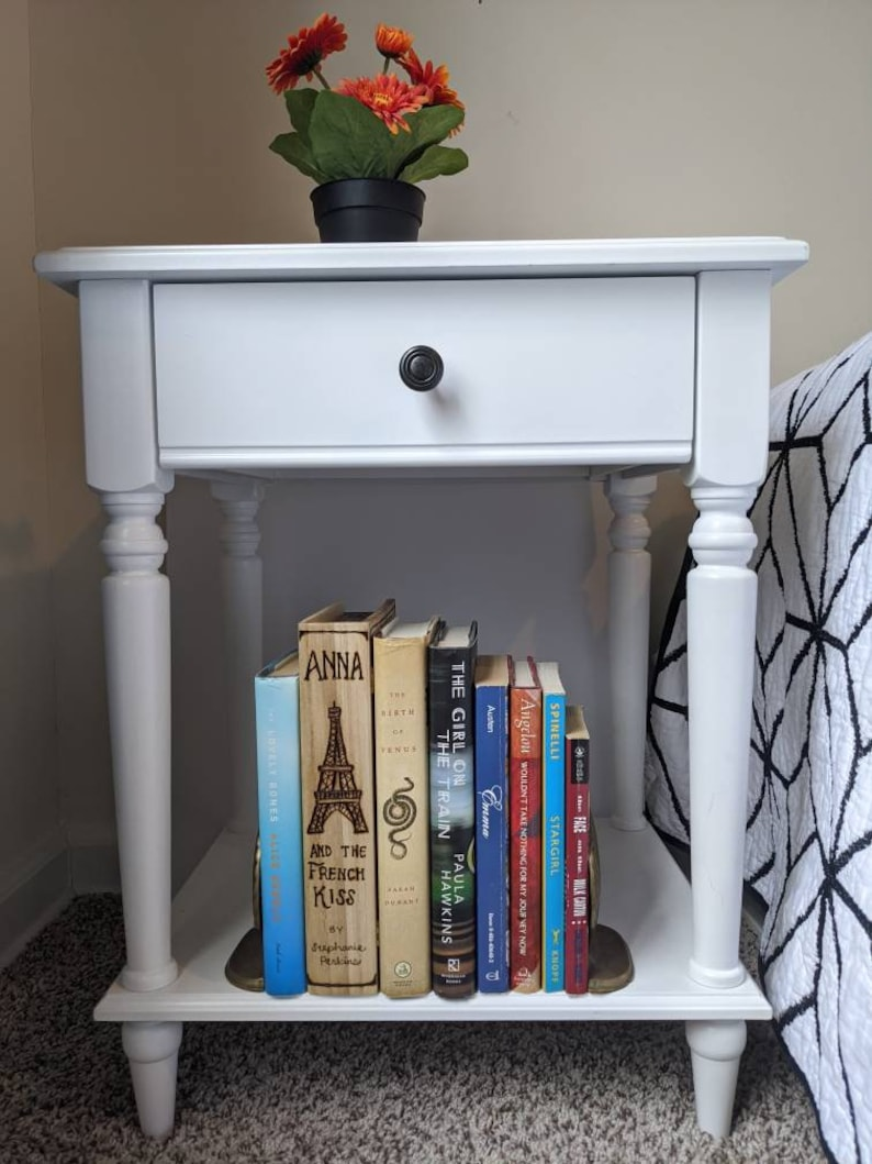 woodburned book box with custom book cover / personalized book image 4