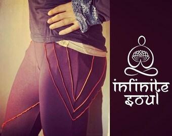 Wild yoga pants, blueberry, yoga leggings, hippie pants, womens activewear, yoga clothes, festival pants, yoga clothing, spiritual clothing