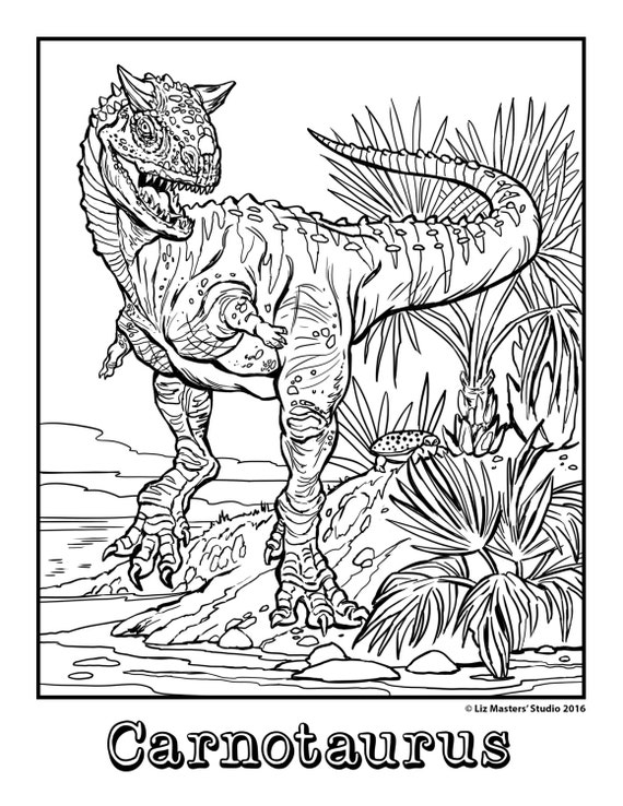 Dinosaur Coloring Page, Printable Coloring Page, Advanced Coloring ...
