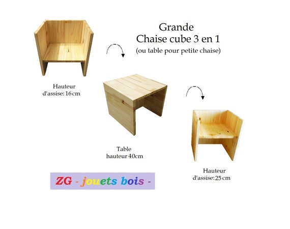 Tremendous Scalable Montessori Cube Or Wooden High Chair Table 3Primarily 1 2 Seat Heights Furniture Baby Personalized Inscription Andrewgaddart Wooden Chair Designs For Living Room Andrewgaddartcom