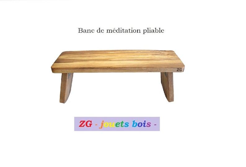 Tabouret Banc De Méditation Pliable En Hêtre Charnières Inox Pieds Rabattables Méditation Yoga Produit Artisanal Finition Au Choix