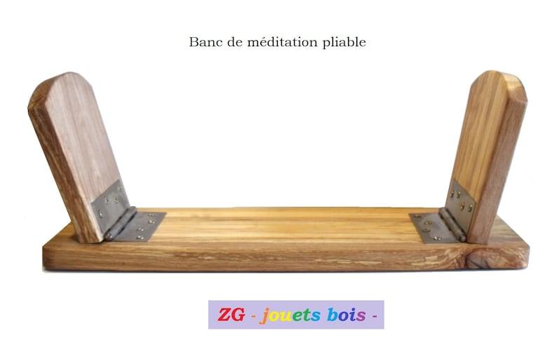 Tabouret Banc De Méditation Pliable En Hêtre Charnières Etsy