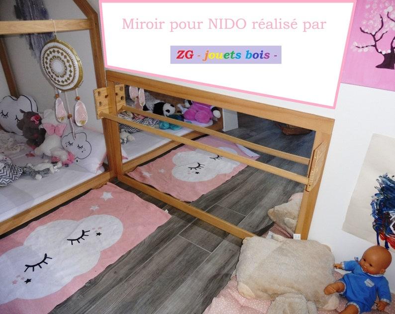 Miroir Montessori bois et acrylique incassable barre de | Etsy