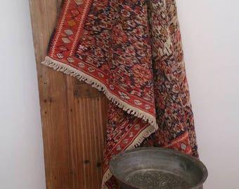 Vintage kilim,Senneh kilim, nomadisch design, kilimrug, turkish kilim, bohémien rug, East Anatolian, old design