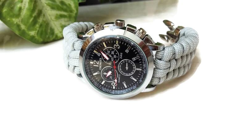 6964f34513f1ac Man horloge-pols paracord paracord watch band fashion