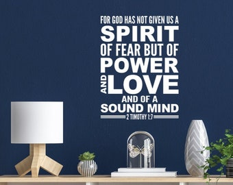 2 Timothy 1:7 Power and Love