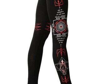 Yantra Leggings- Woman Leggings- Indian leggings- Sacred Geometry Leggings-Printed Leggings-Graphic Leggings-Rave Leggings-Spiritual legging