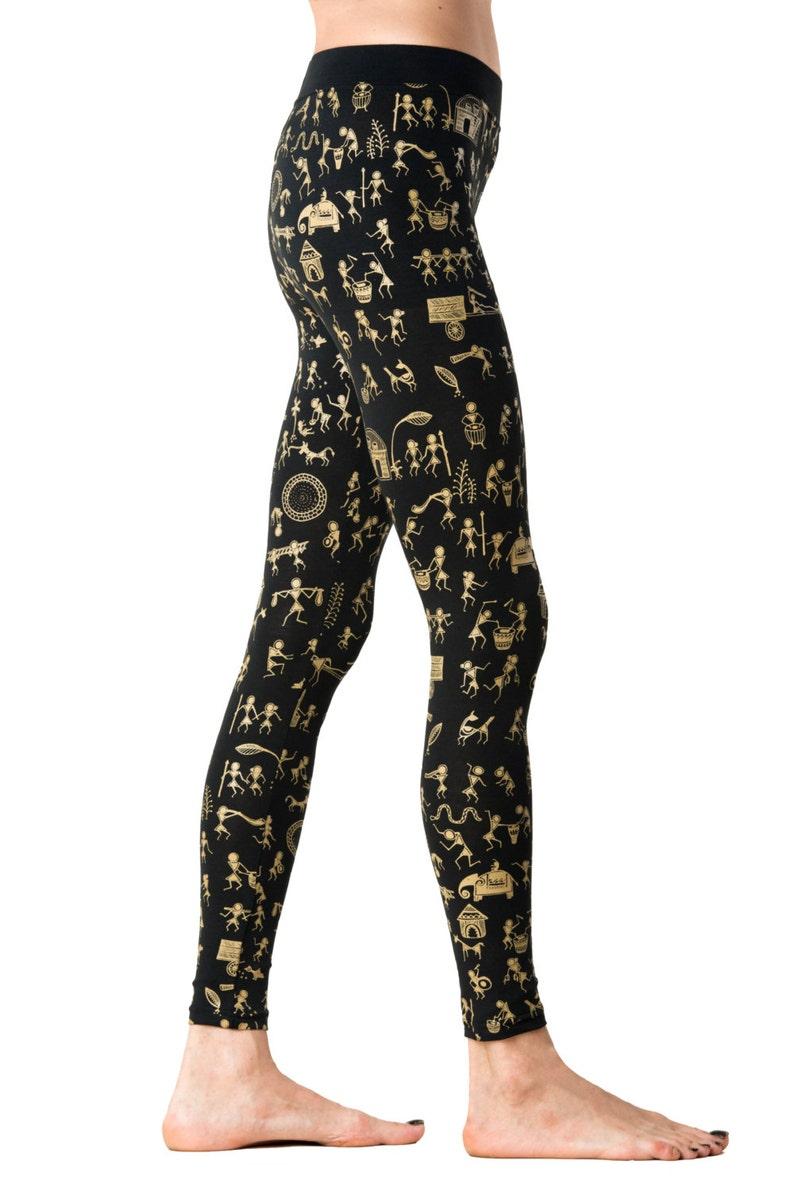 36085ec2760e9 Warli Art Leggings Yoga Leggings women Printed Legging   Etsy
