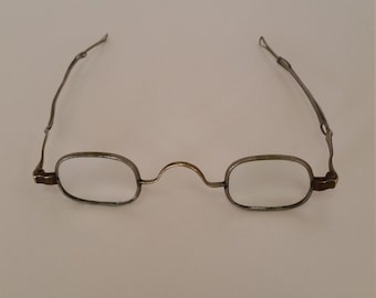 78bb5486fe9 1800s Eyeglasses  Strong +6.75 Strength  Sliding Temples  Ready to Wear -  Reenacting Living History  Excellent Antique Condition