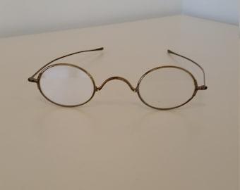 fabe86a8973 1800s Gold Brass Eyeglasses  Ready to Wear  Non-prescription Lenses  Great  for Reenactors  Excellent Antique Condition  Civil War Era