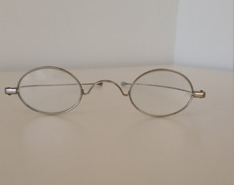 e8661c3f5888 1800s Reading Glasses  +1.00 Strength  Ready to Wear  Excellent Antique  Condition w Orig Glass Lenses  Reenacting  Living History  Civil War
