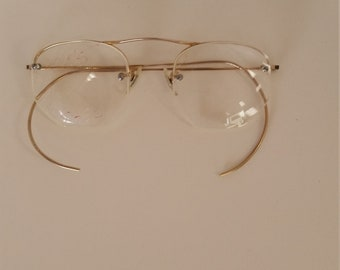 e5a62a767de8 1940s Shuron Semi-Rimless Eyeglasses Frame w/Wrap Flex Temples; Excellent  Condition; Marked 1/10 12KGF USA; Rx Lenses Must Be Changed