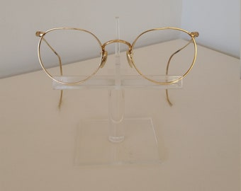 e6278795b26f 1940s Art Craft Round Eyeglasses Frame  Marked 1 10 12 KGF Full Vue   Beautiful Condition  Rx-able and Ready for Prescription Lenses
