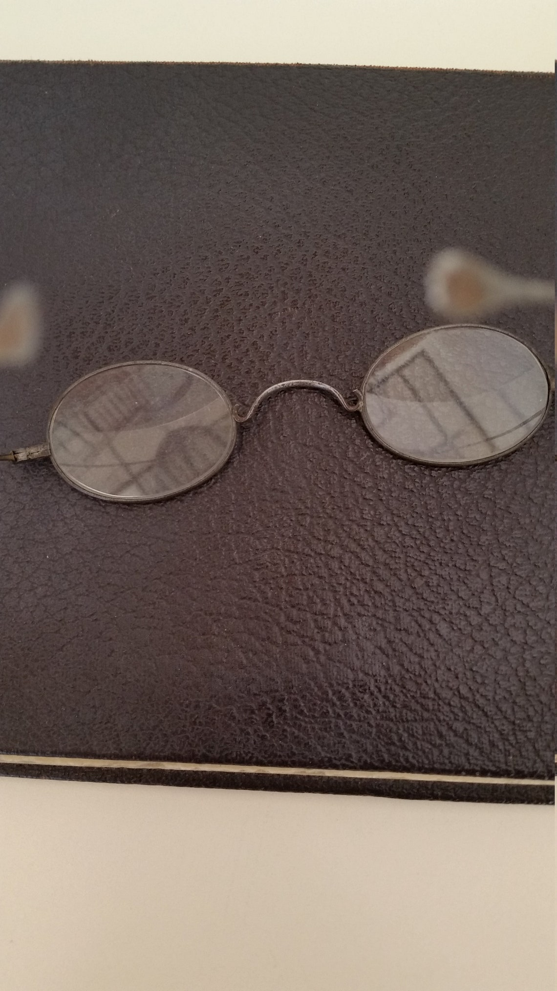 1800s Bifocal Reading Glasses; +1.50 Upper/+3.50 Lower Strength; Ready to Wear; Good Condition; Reenactors; Read Description for Sizing