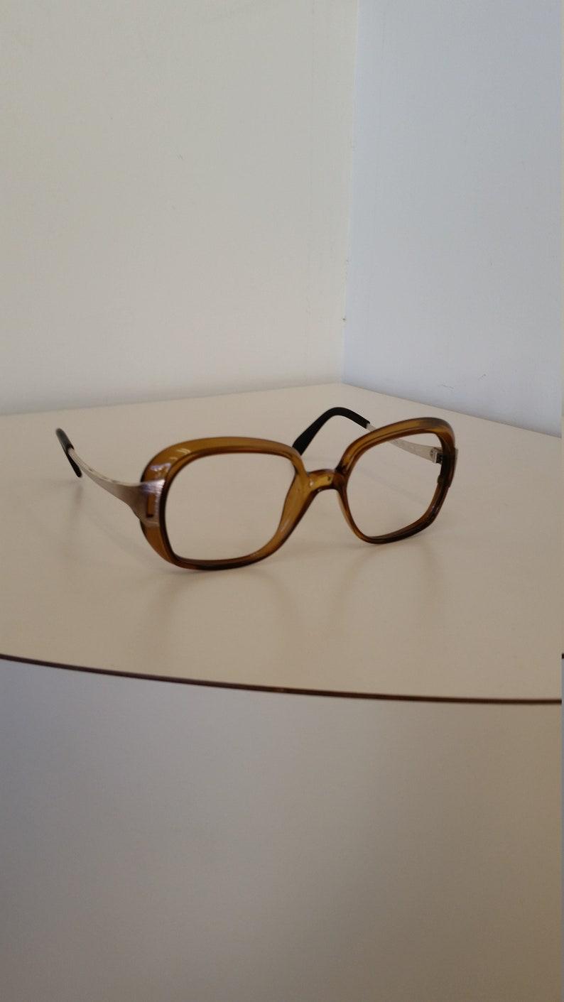 1d001d5fcd0 1980s ViennaLine Royal Eyeglasses Frame Large Brown Square