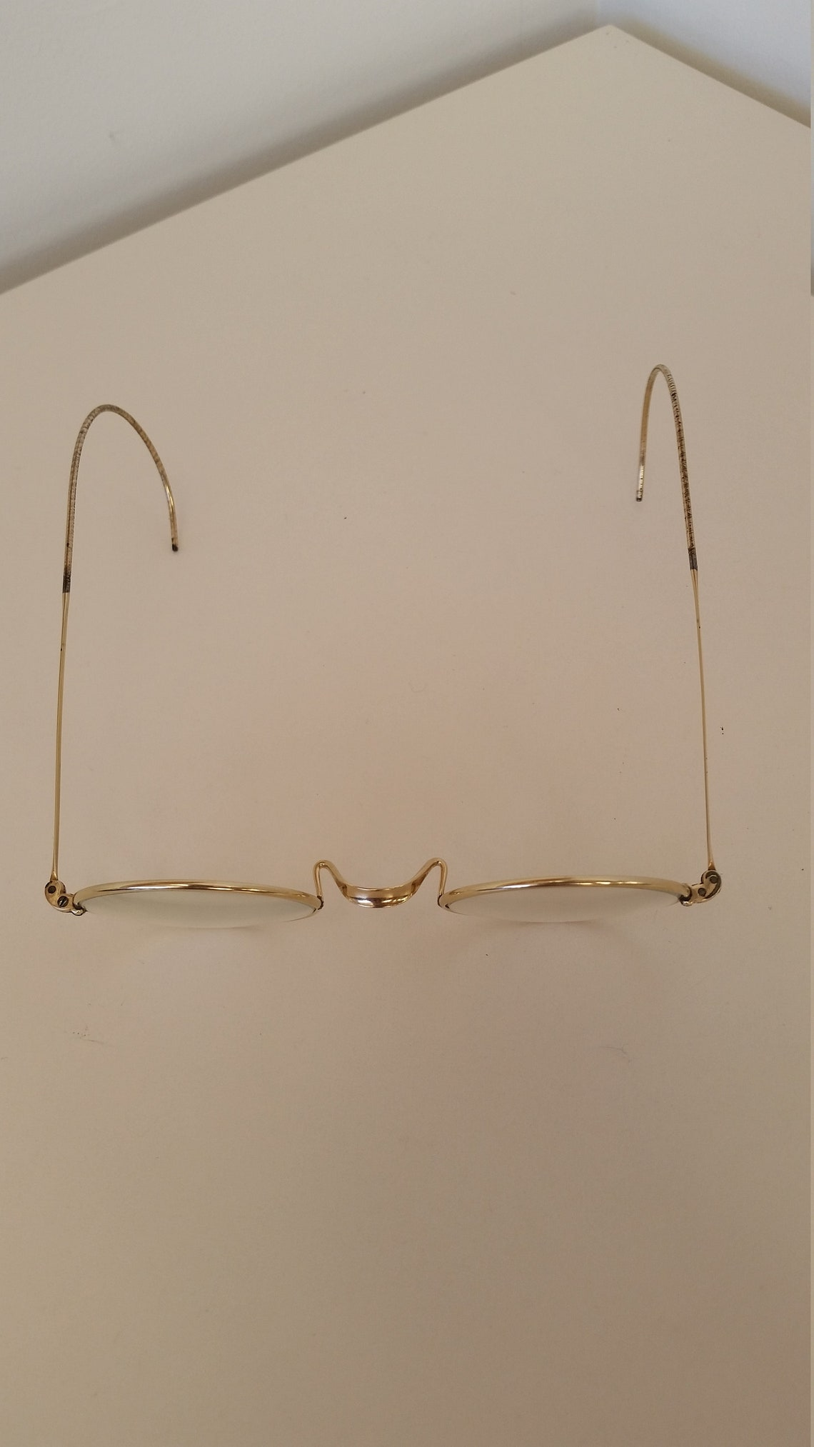 1920s Round Gold Eyeglasses; +0.75 Strength; Slight Magnification; Use as a Reader or Exchange Lenses; Rx-able; Excellent; Read Description