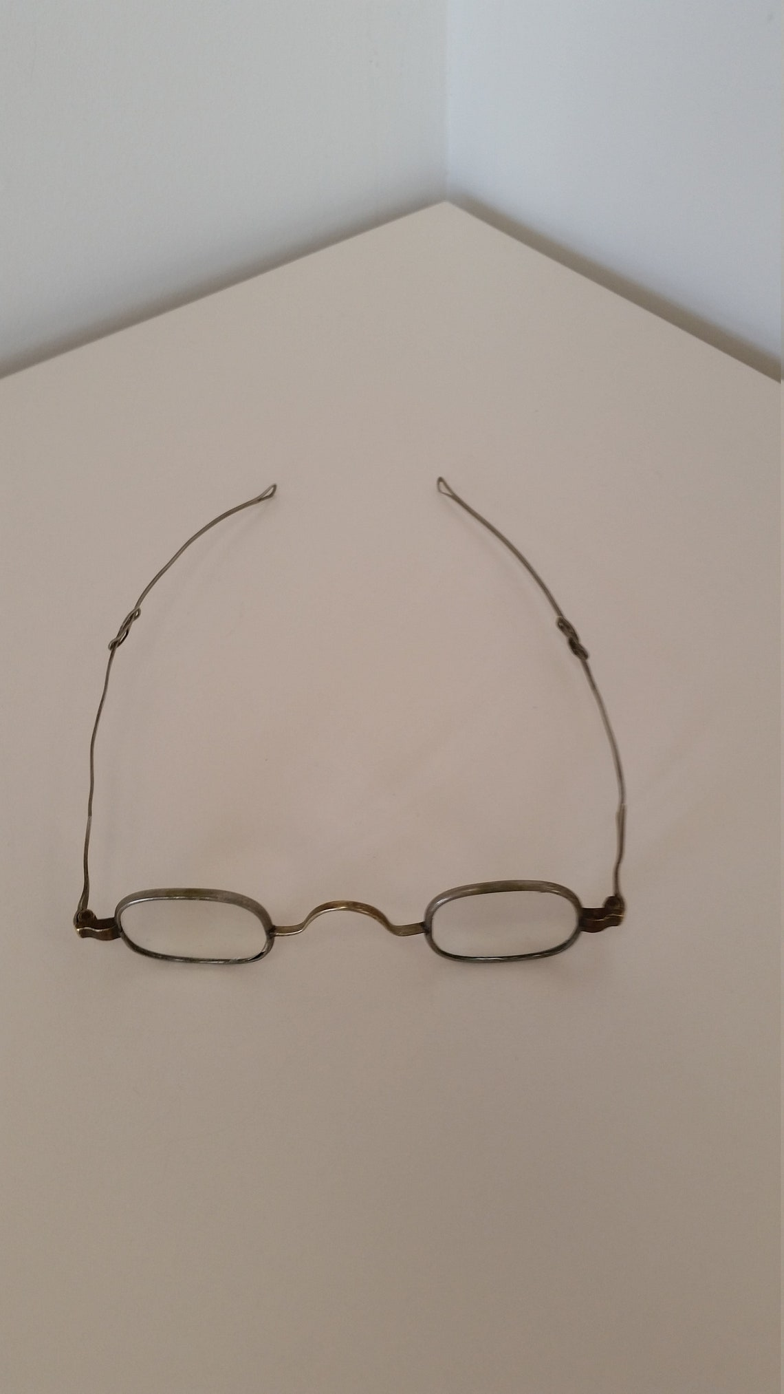 1800s Eyeglasses; Strong +6.75 Strength; Sliding Temples; Ready to Wear - Reenacting Living History; Excellent Antique Condition