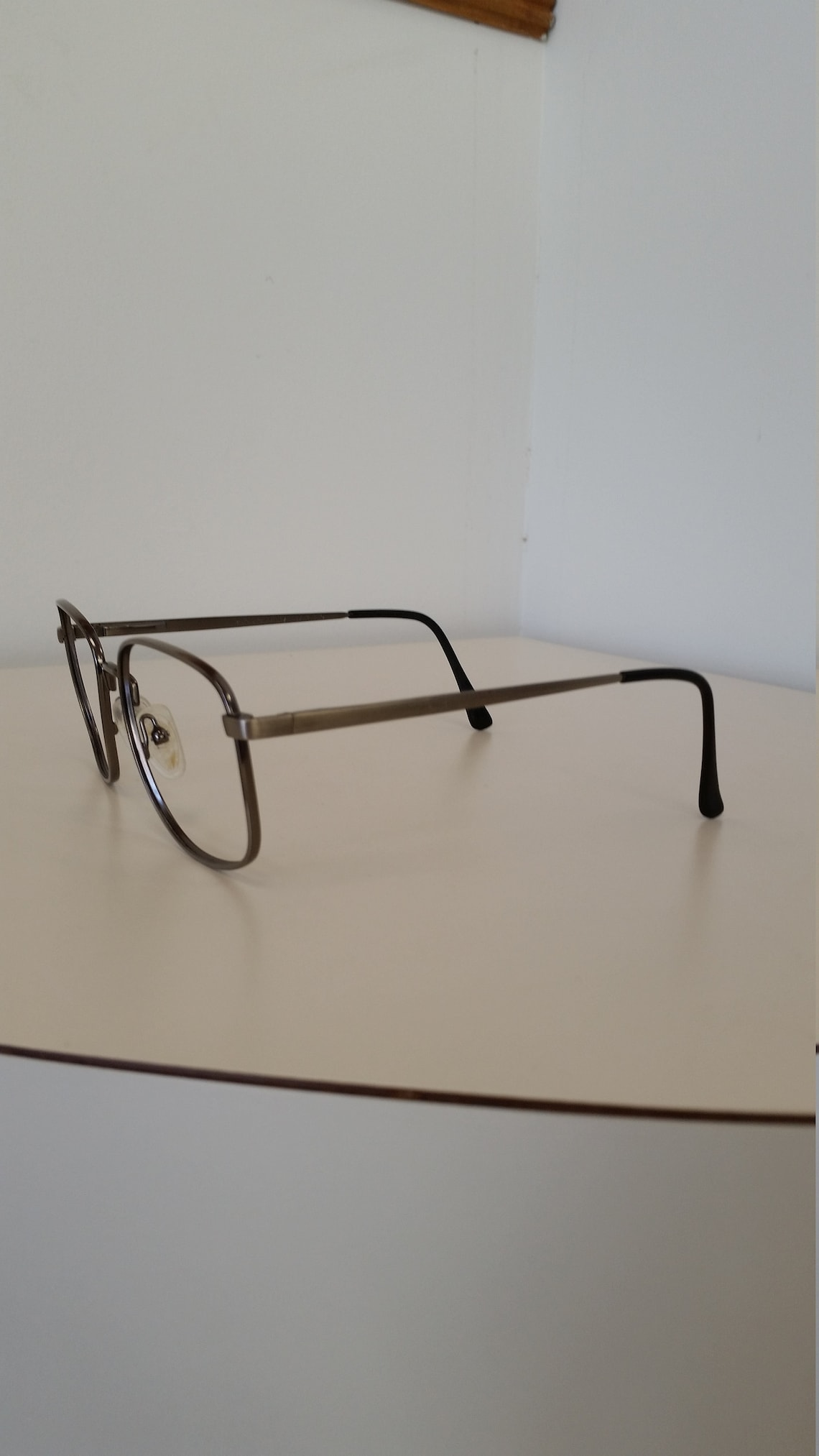 1960s AO Safety Frame; Silver Metal w/ Spring Hinges; Excellent Condition; Rx-able and Ready for Lenses (Note: no longer safety rated)